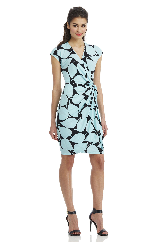 Maggy London Sea Leaf Wrap Dress | My Favorite Fashion Styles ...