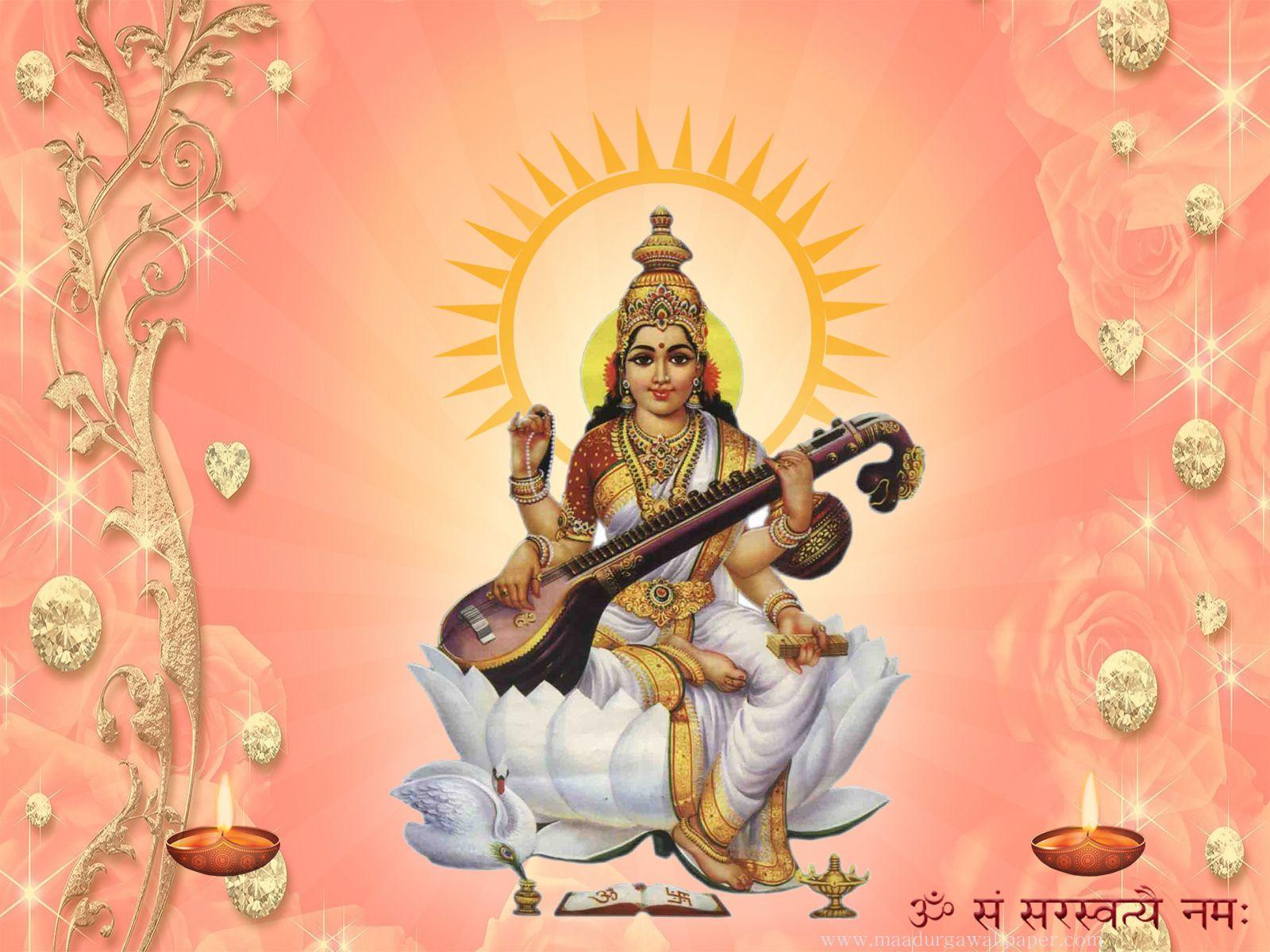 Maa Saraswati Hd Photo Beautiful Images Hd Photos Attractive Wallpapers