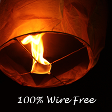 Eco White WishLantern Individual Sample $8.99 #freeshipping #birando #wishlantern