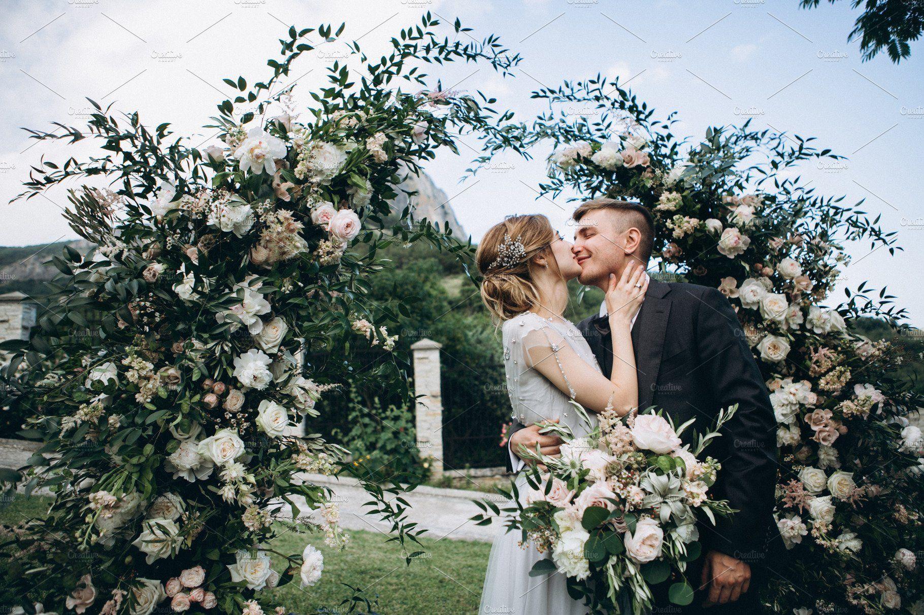 Sweet Wedding Kiss On Ceremony Wedding Kiss Beautiful Weddings Wedding