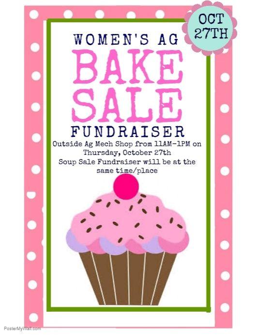 Copy Of Bake Sale Bake Sale Flyer