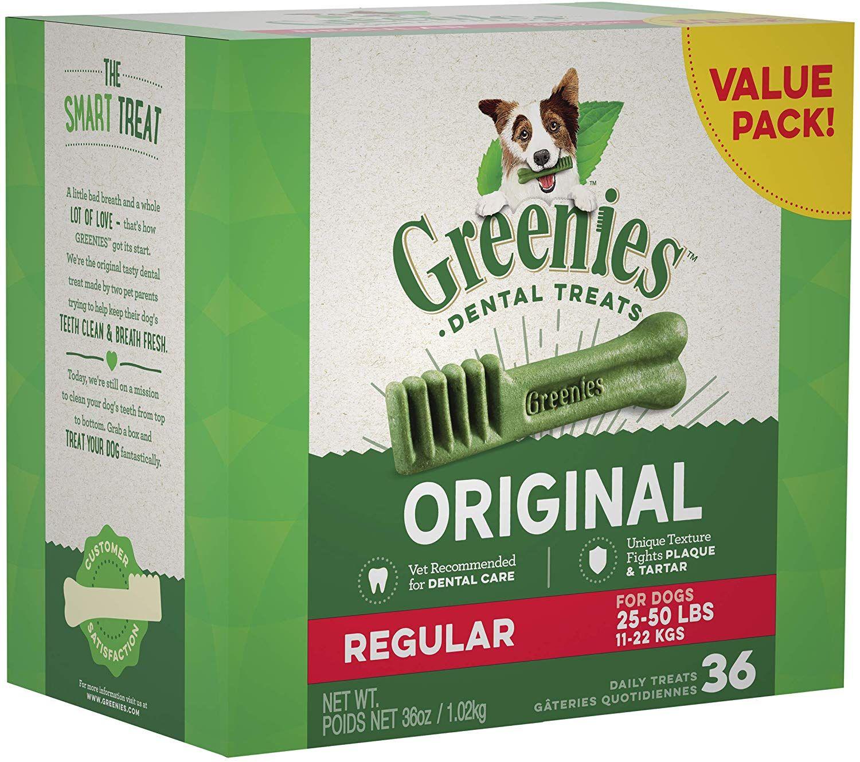 Greenies Original Regular Size Natural Dental Dog Treats Dog Dental Treats Dog Dental Chews Dog Dental