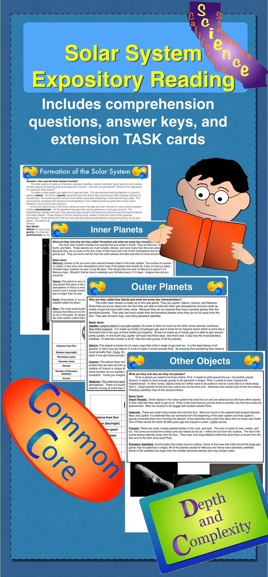 Solar System Expository Reading | Comprehension worksheets, Solar ...