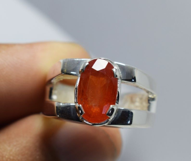 yellow and orange sapphire 925 silver sterling earrings and ring natural emerald