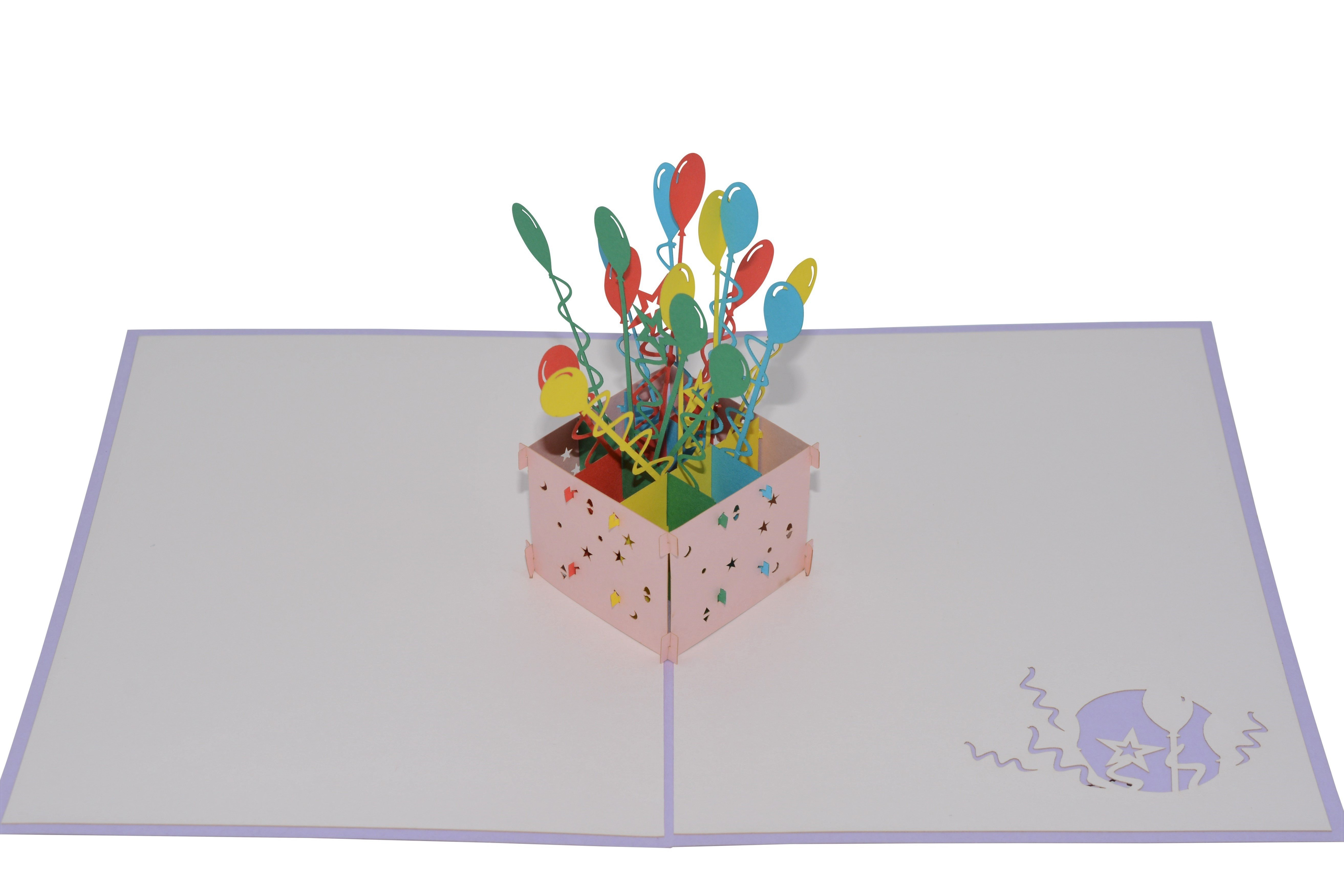 Paperkraft balloon bouquet birthday pop up greeting card products