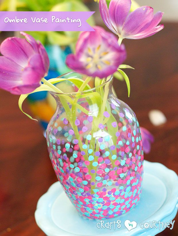 Make A Statement With Pebble Ombre Vase Painting Ombre Empty And