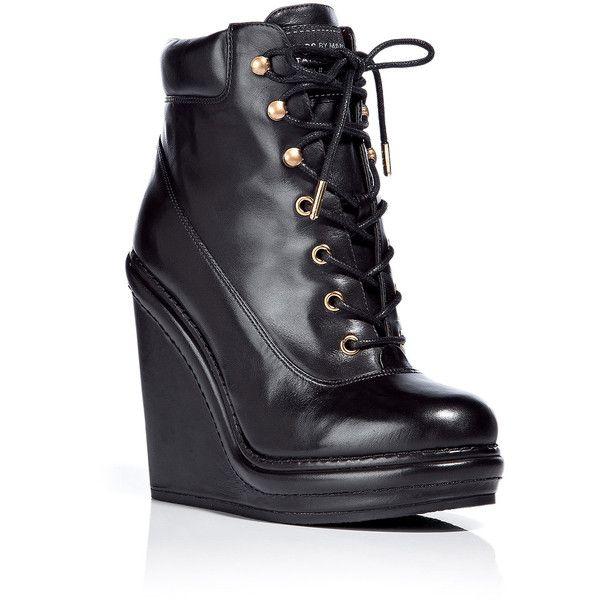 Black Lace-Up Boots Marc Jacobs wBxg8z
