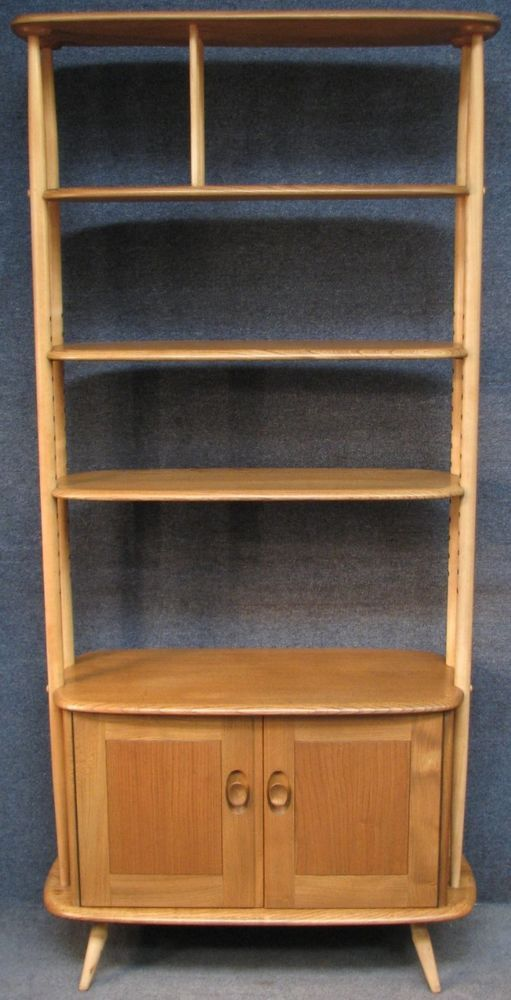Ercol Elm Beech Windsor 363 Room Divider Shelf Unit On Cabinet Cupboard