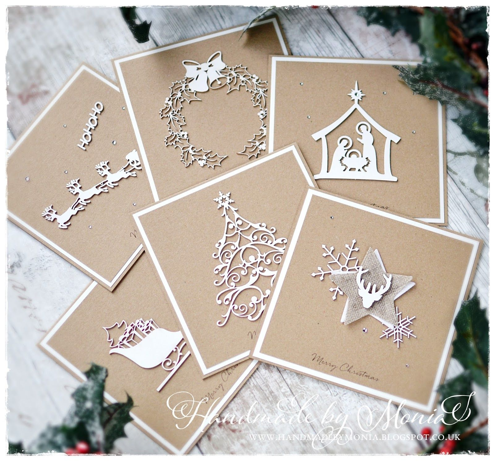 Rustic Christmas Cards??? Yes, please!!! I made them for Love to ...