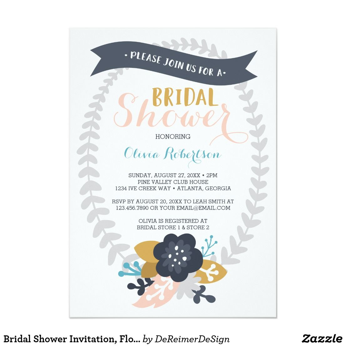 289fe96e9d43 Bridal Shower Invitation
