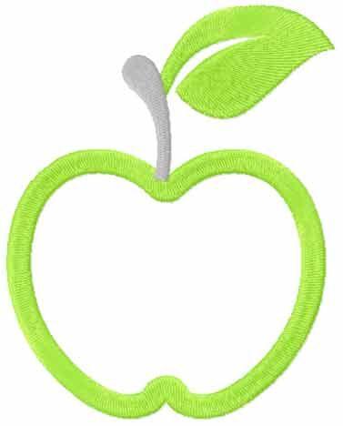 Apple design free machine embroidery design