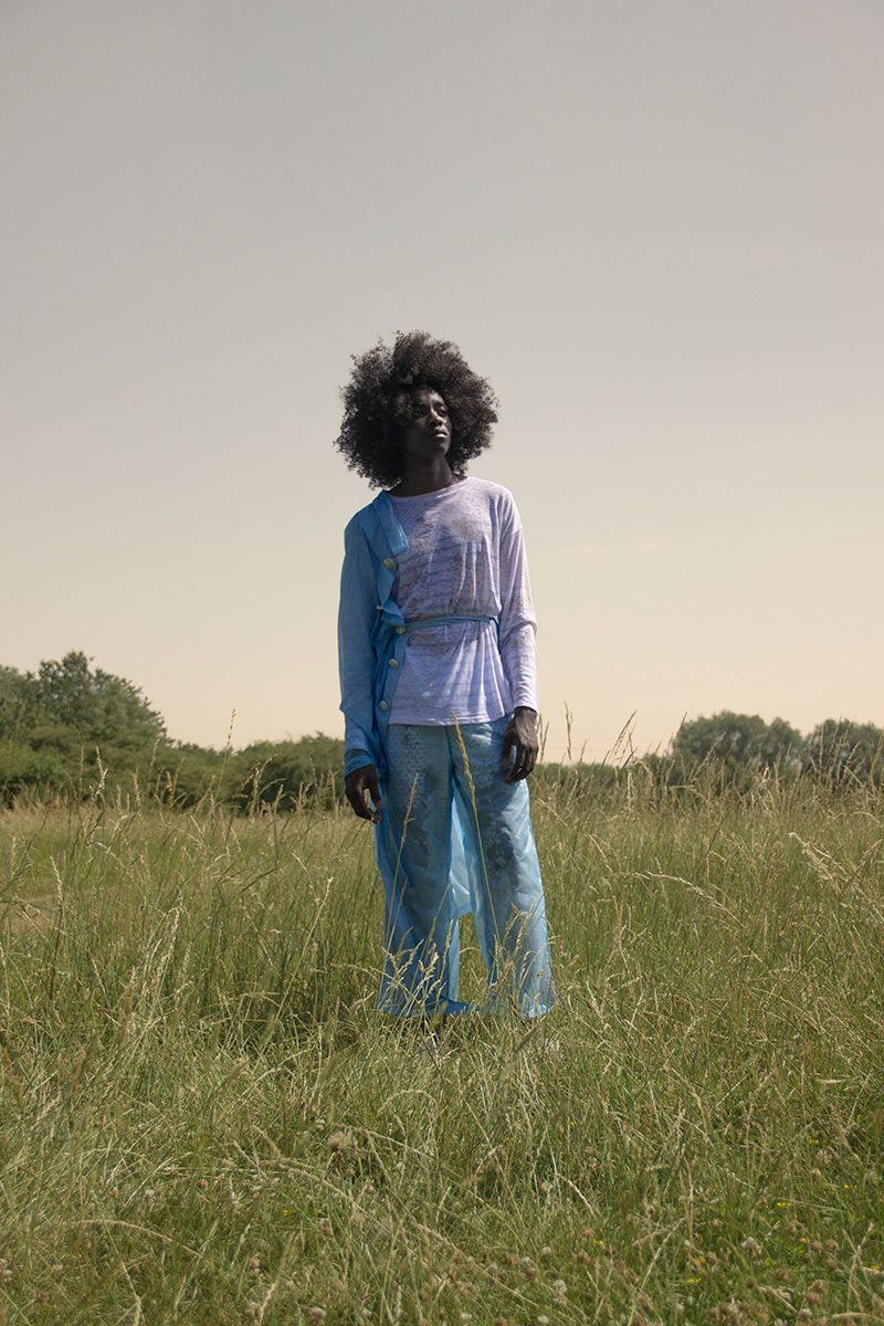 """KA WA KEY unveiled the lookbook for its SS18 """"Fried Rice in the Closet"""" collection, featuring Arnaldo Sanha, Luis Dzidzornu and Travis C-Knight photographed by Jarno Leppanen."""