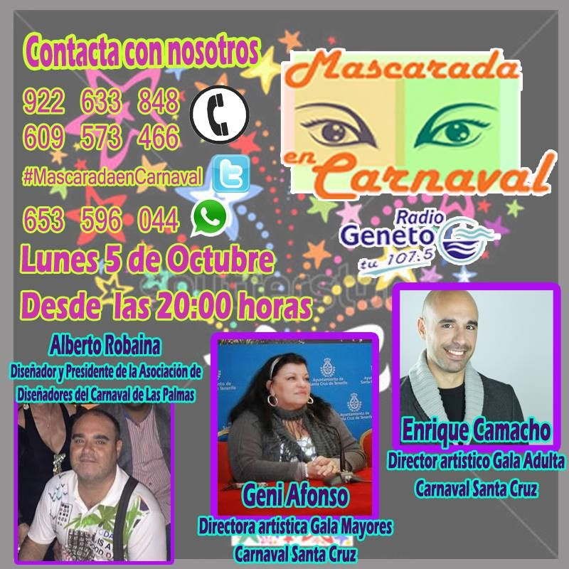 """Grupo Mascarada Carnaval: """"Mascarada en Carnaval"""", con la visita de los dire..."""
