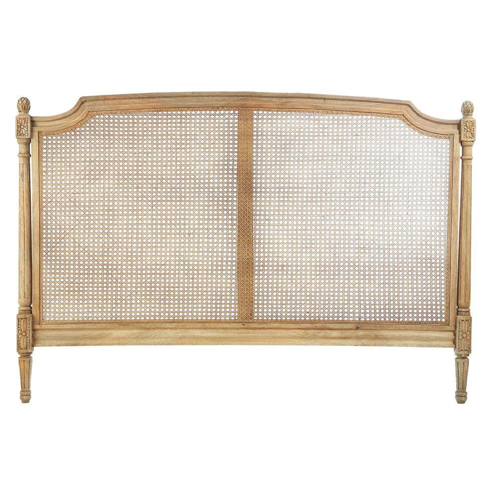 Tete De Lit En Manguier L 160 Cm Colette Headboard Wood Headboard Costal Decorating