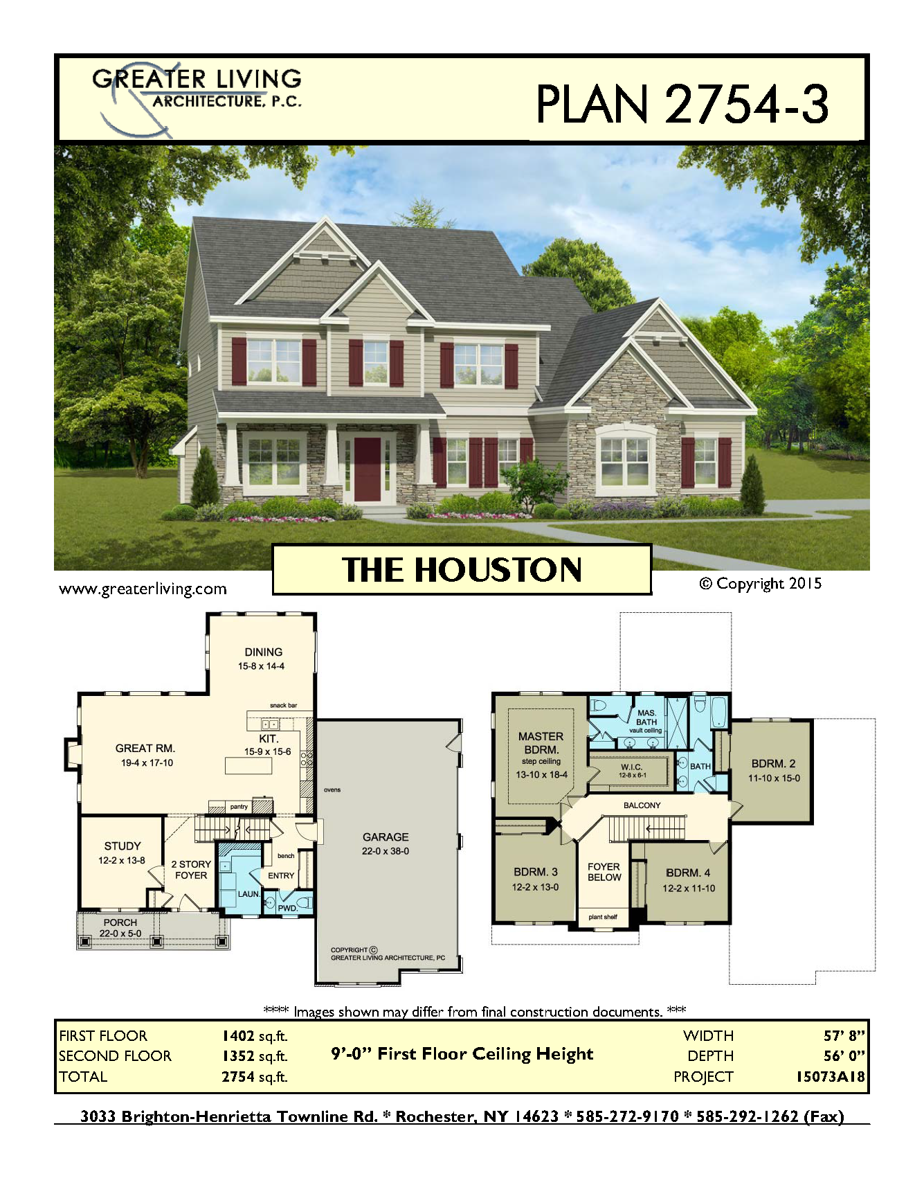 Plan 2754 3 The Houston House Plans Two Story House