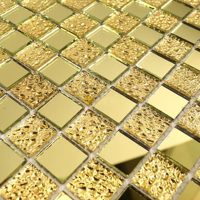 2016 espejo en línea de baño de azulejos azulejos de oro del ...