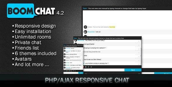 Boomchat v7.1 Responsive PHP/AJAX Chat + Addons and Theme | WEP SİTE ...