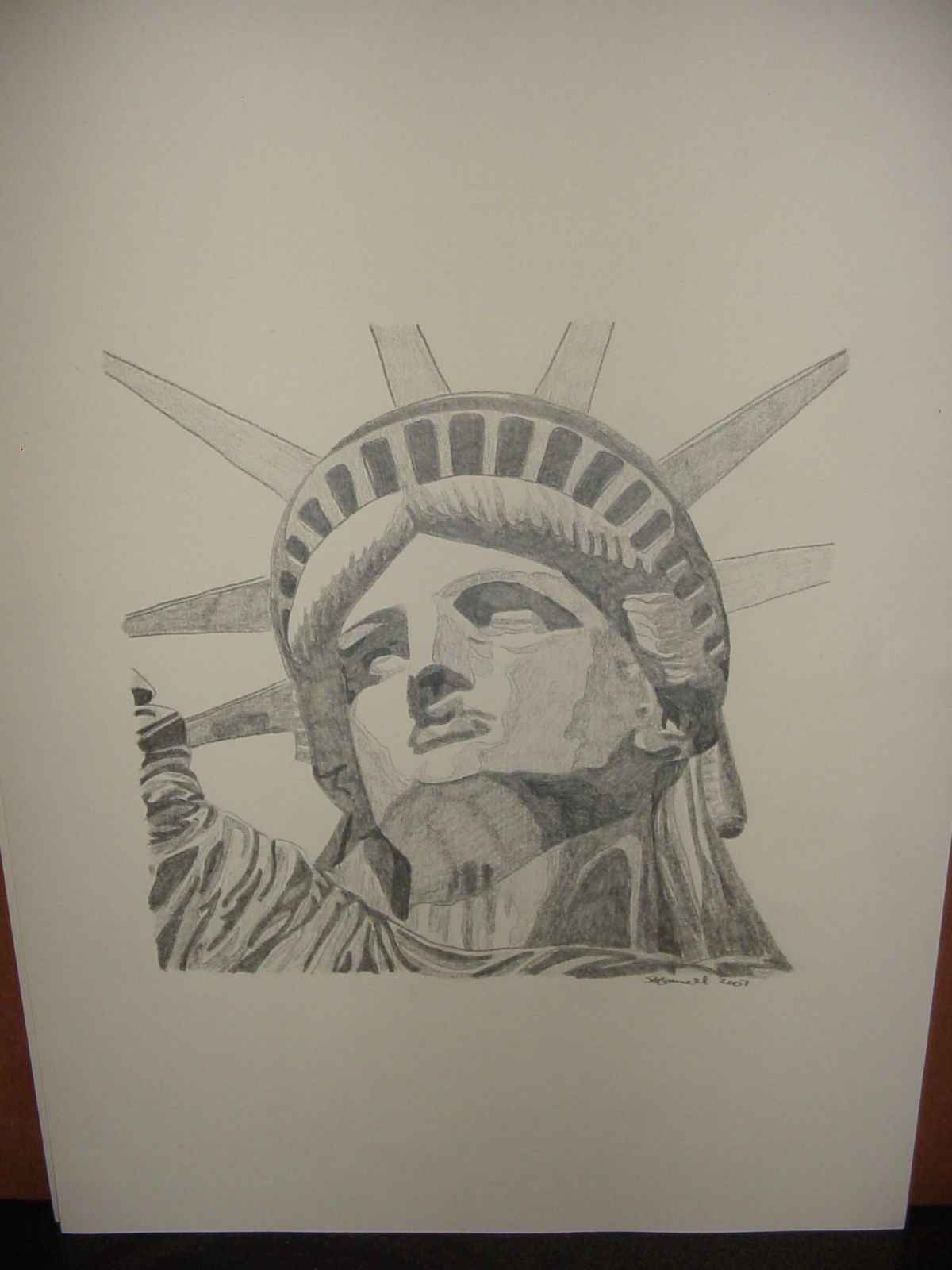Pencil drawing statue of liberty my paintings pencil drawings
