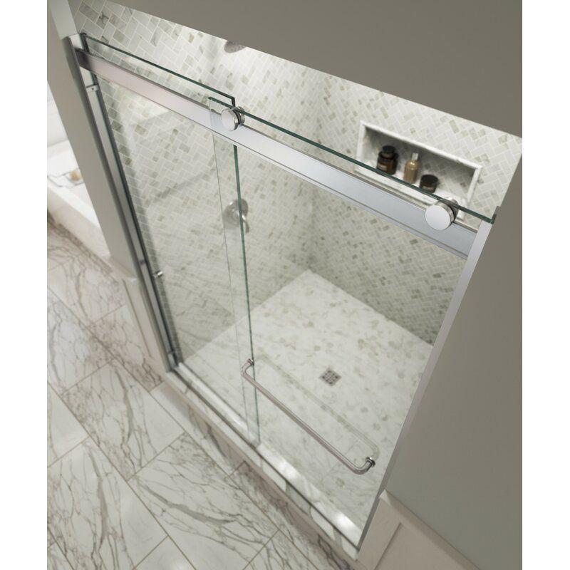 Rotolo 56 W X 76 H Bypass Frameless Shower Door Shower Doors Frameless Shower Doors Bathroom Shower Doors