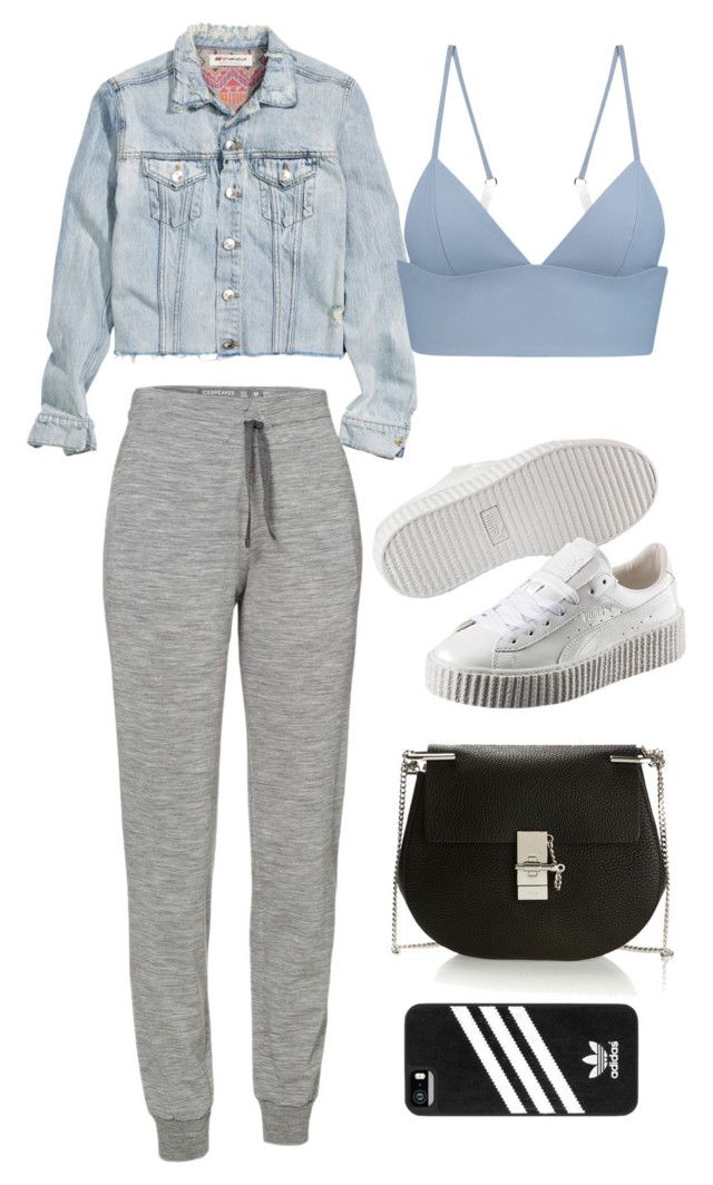 """""""Untitled #9717"""" by katgorostiza ❤ liked on Polyvore featuring H&M, Icebreaker, T By Alexander Wang, Puma, Chloé and adidas"""