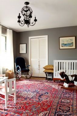 Oriental Rugs Red With Grey Walls
