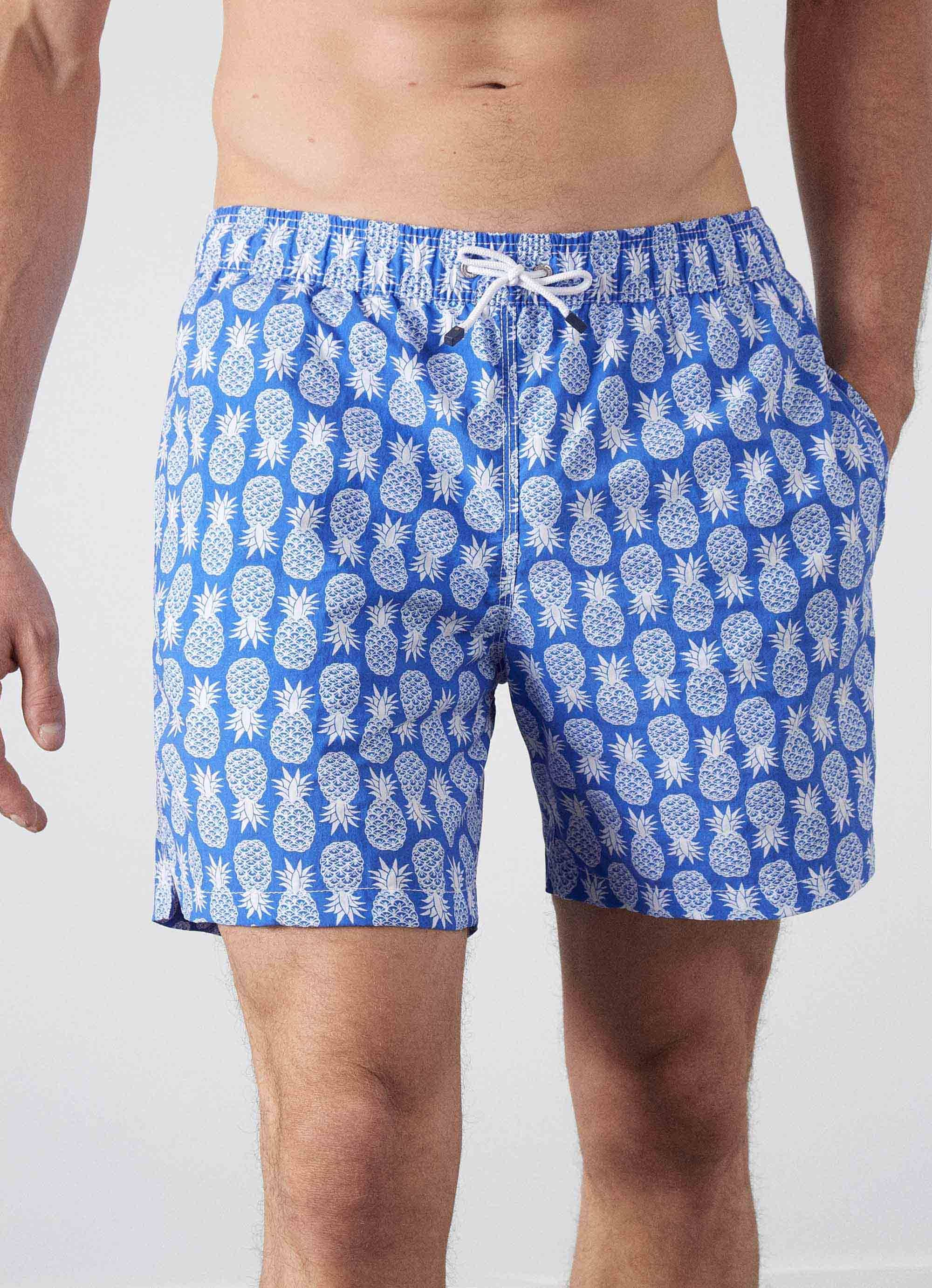 1e5bc7c436 Pineapple Print Swimming Shorts - Shorts & Swimwear - Clothing - Men |  Hackett