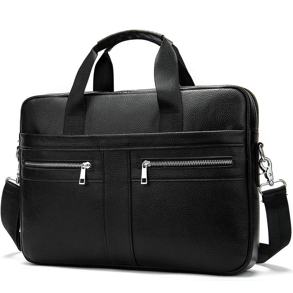 Photo of Men Shoulder Bags Leather Laptop Men's Briefcases Business Briefcases Man For La…