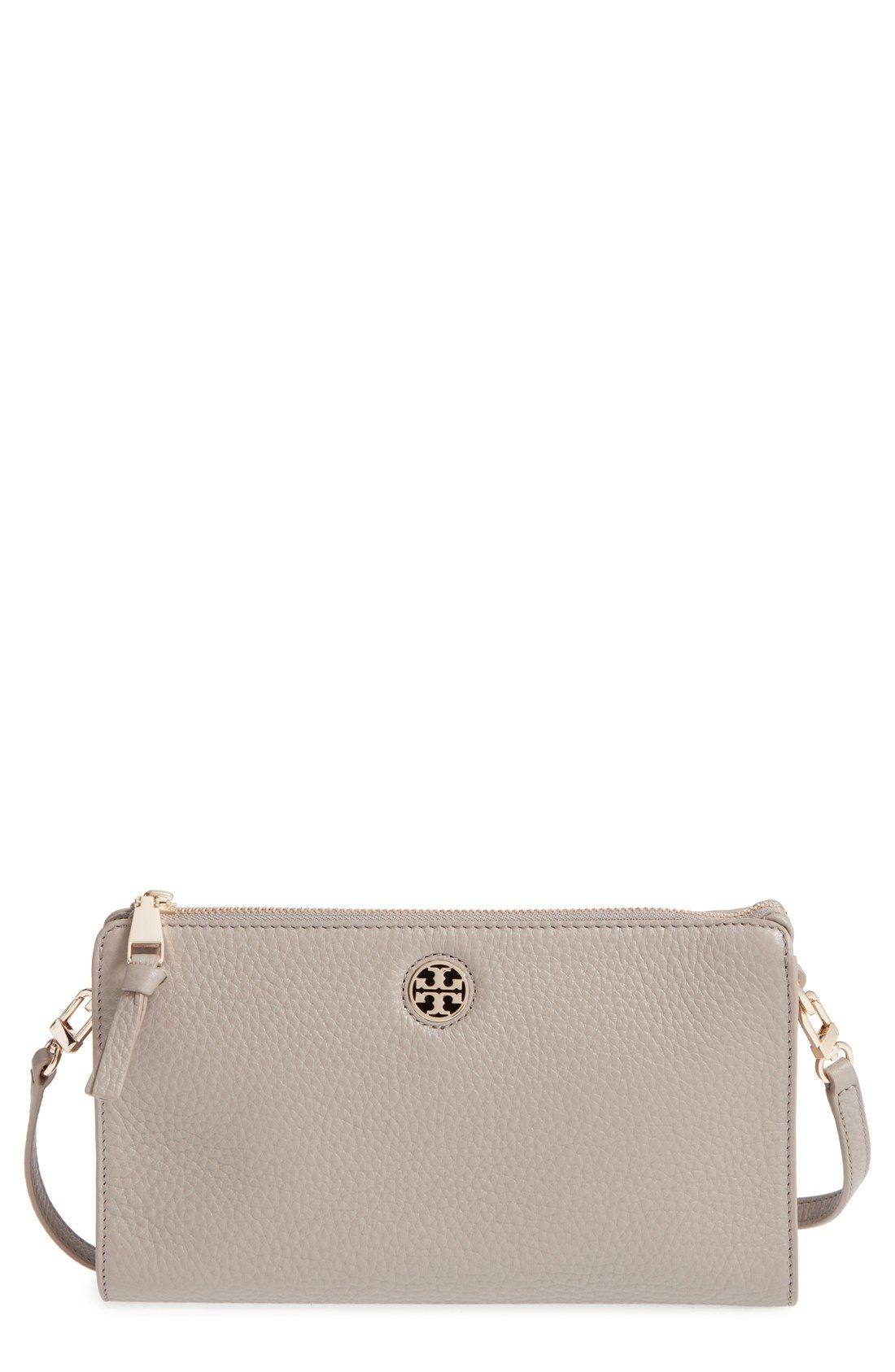 c45bcdf1c07 Tory Burch  Robinson  Pebbled Leather Crossbody Wallet available at   Nordstrom