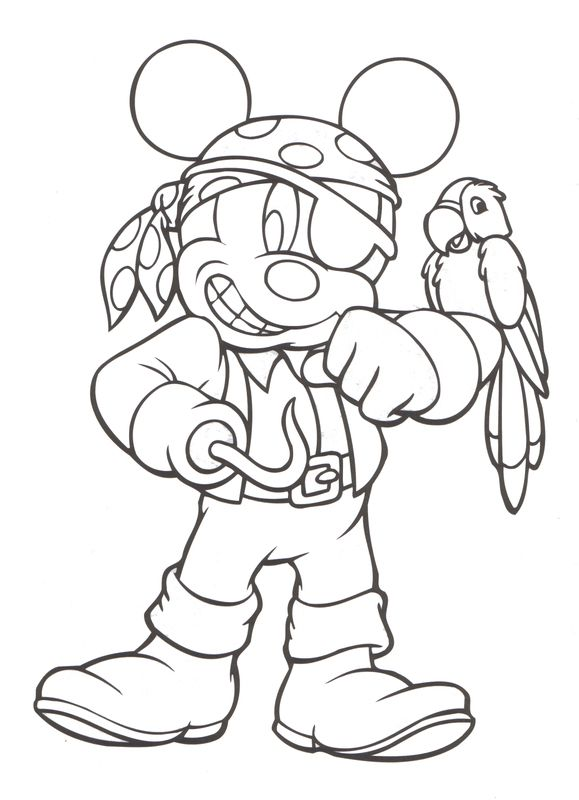 Disney Coloring Pirate Coloring Pages Mickey Mouse Coloring Pages Halloween Coloring