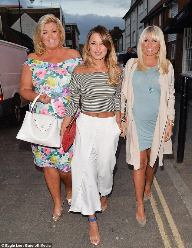 b306c03d78bf Sam and pregnant Billie Faiers show off their tans in spring colours ...
