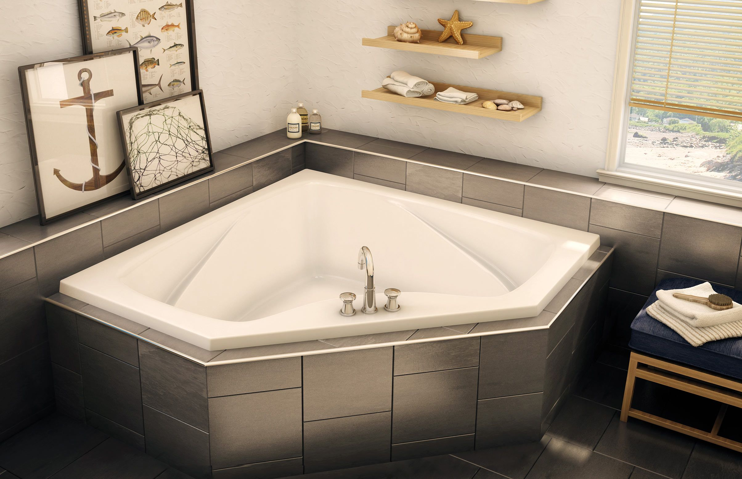 CTF2-6060 Corner or Drop-in bathtub - Aker by MAAX | Aker By MAAX ...