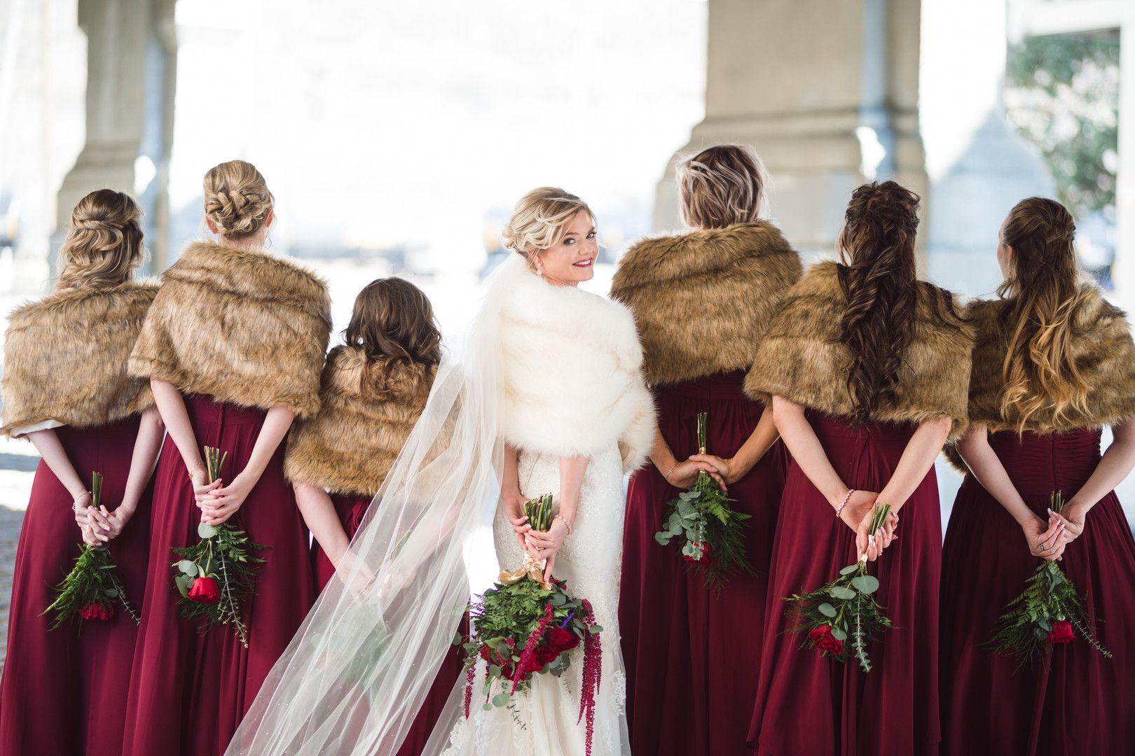 Rachel Isaac Wedding 28 Event Space Kansas City Mo Us Winter Bridesmaid Dresses Christmas Bridesmaid Dresses December Wedding Dresses