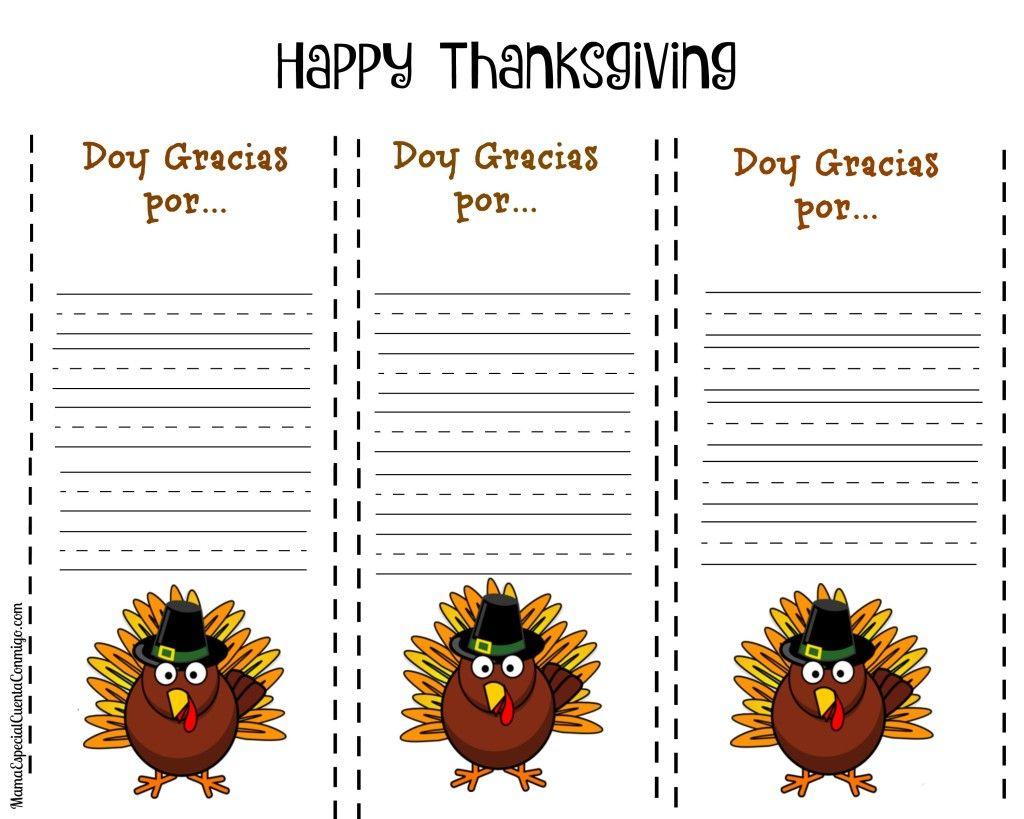 Imprimibles para niños ~ Día de Acción de Gracias   Dar gracias ...