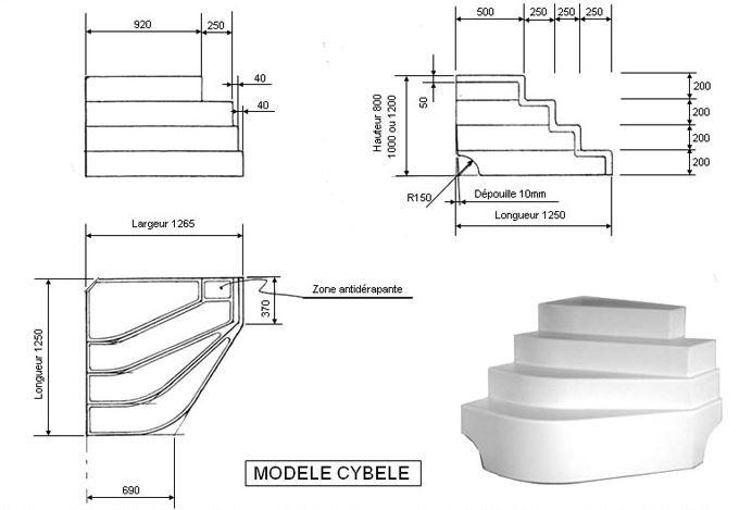 Escalier Sur Liner Piscine Cybele Accelo Piscine Beton