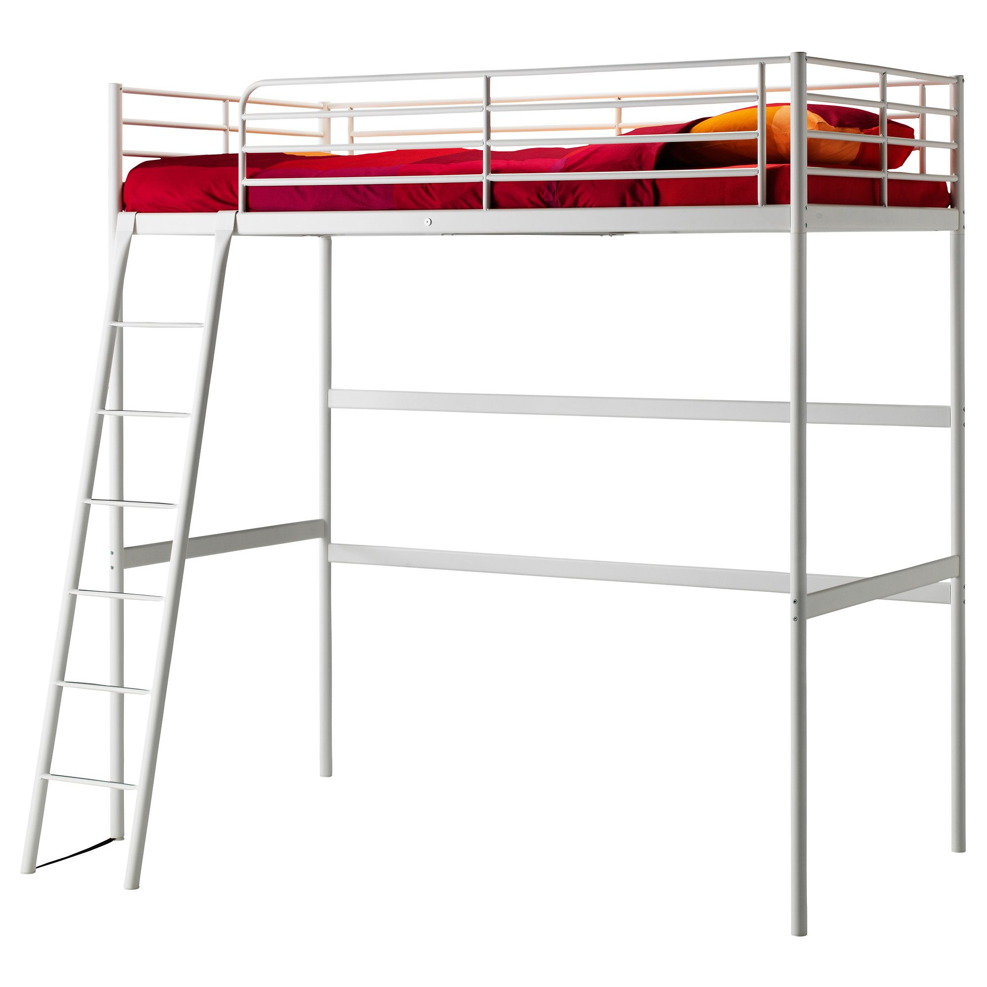 TROMSÖ Loft bed frame - Full/Double - IKEA $169 | DIYDS | Pinterest ...
