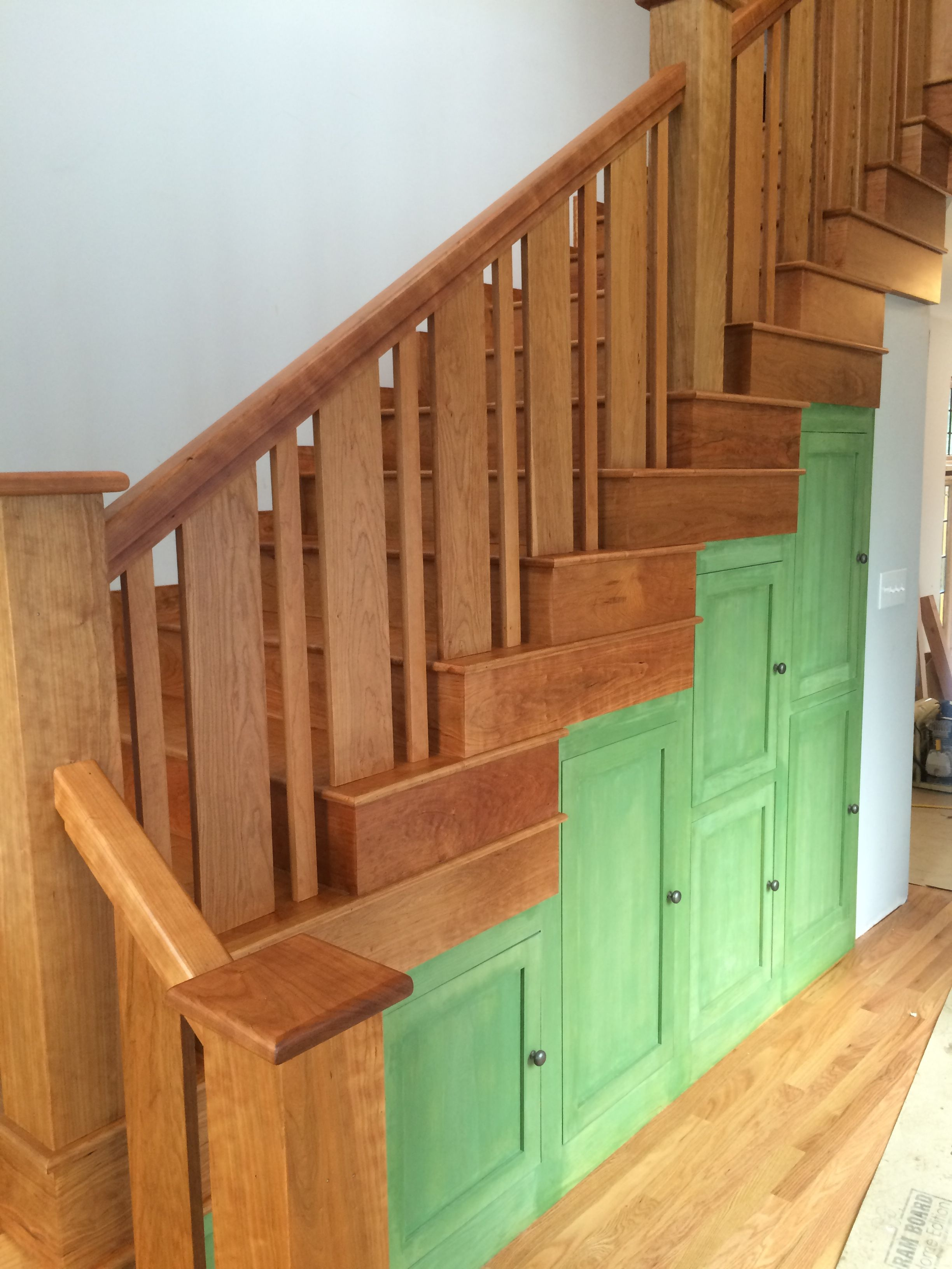 Best American Cherry Craftsman Style Staircase Finished With 400 x 300