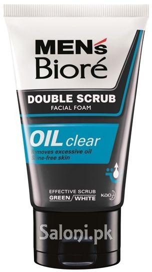 Men S Biore Double Scrub Oil Clear 100 Grams Skin Tonic Mens Face Care Biore