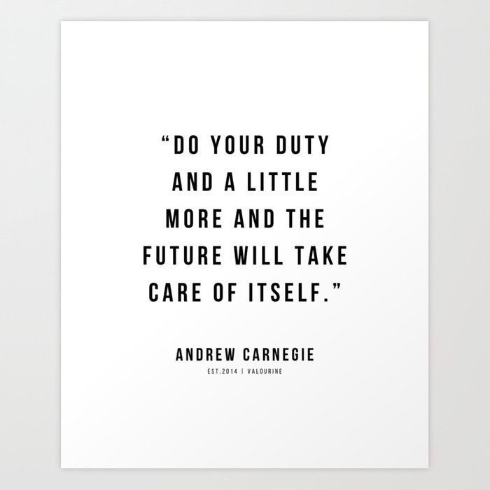 45 |Andrew Carnegie Quotes | 21010 | Motivational Inspirational Success Quote Personal Development Business Coach Art Print by Wordz
