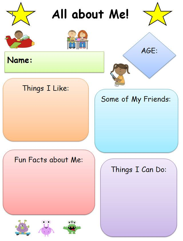 all about me graphic organizer 2