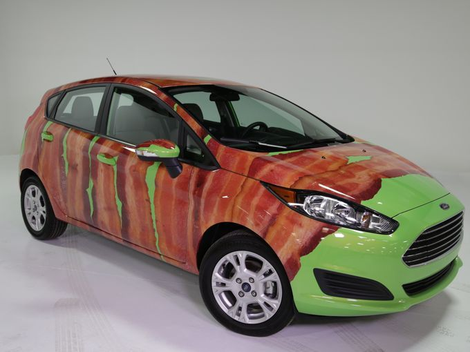 Pork out on the bacon wrapped Ford Fiesta