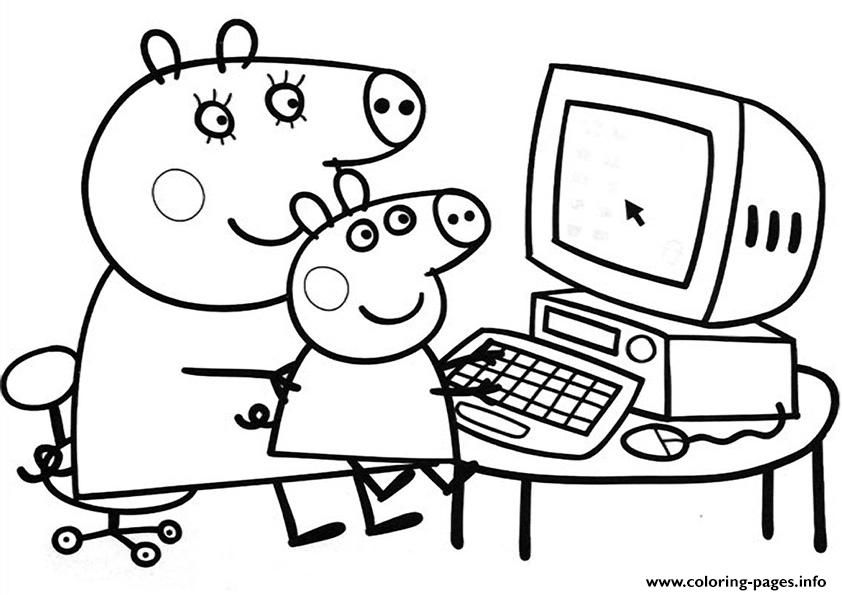 Print peppa pig free coloring pages arlinda pinterest for Peppa pig drawing templates