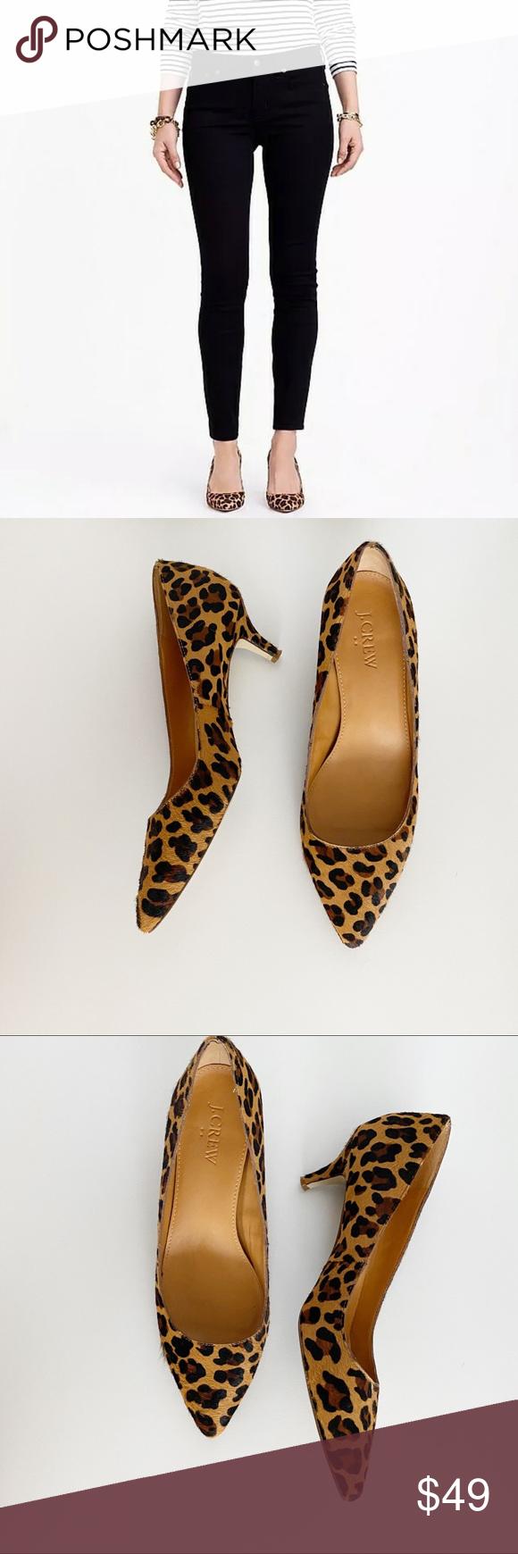 J Crew Esme Leopard Print Kitten Heels Shoes 6 5 In 2020 Kitten Heel Shoes Shoes Women Heels Kitten Heels