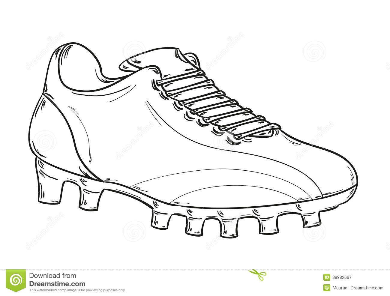 Soccer Boot Template Shoe Art Football Boots Shoe Template