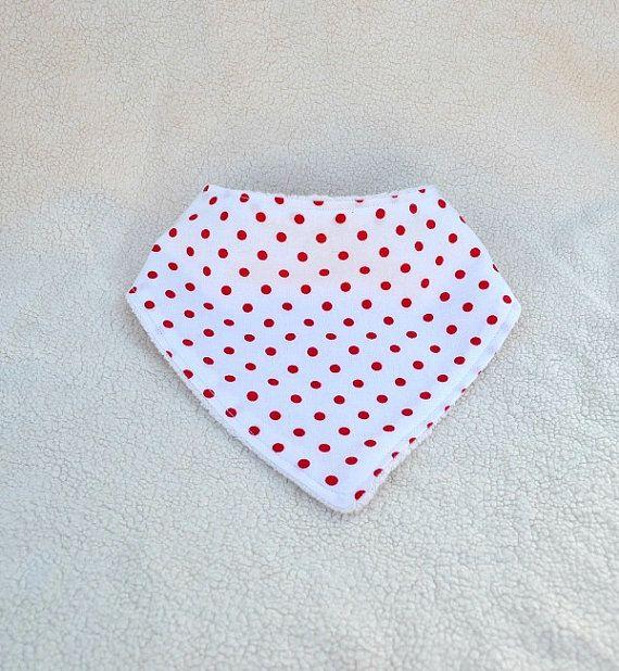 Baby shower gift Baby Girl Polka Dots Green Baby Bandana Bib