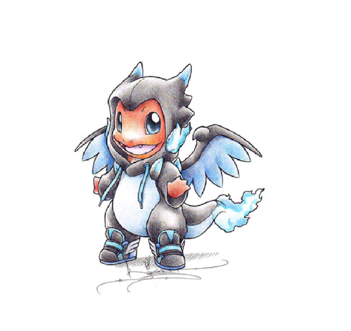 charmander in a mega charizard onesie pokemon pinterest pokémon