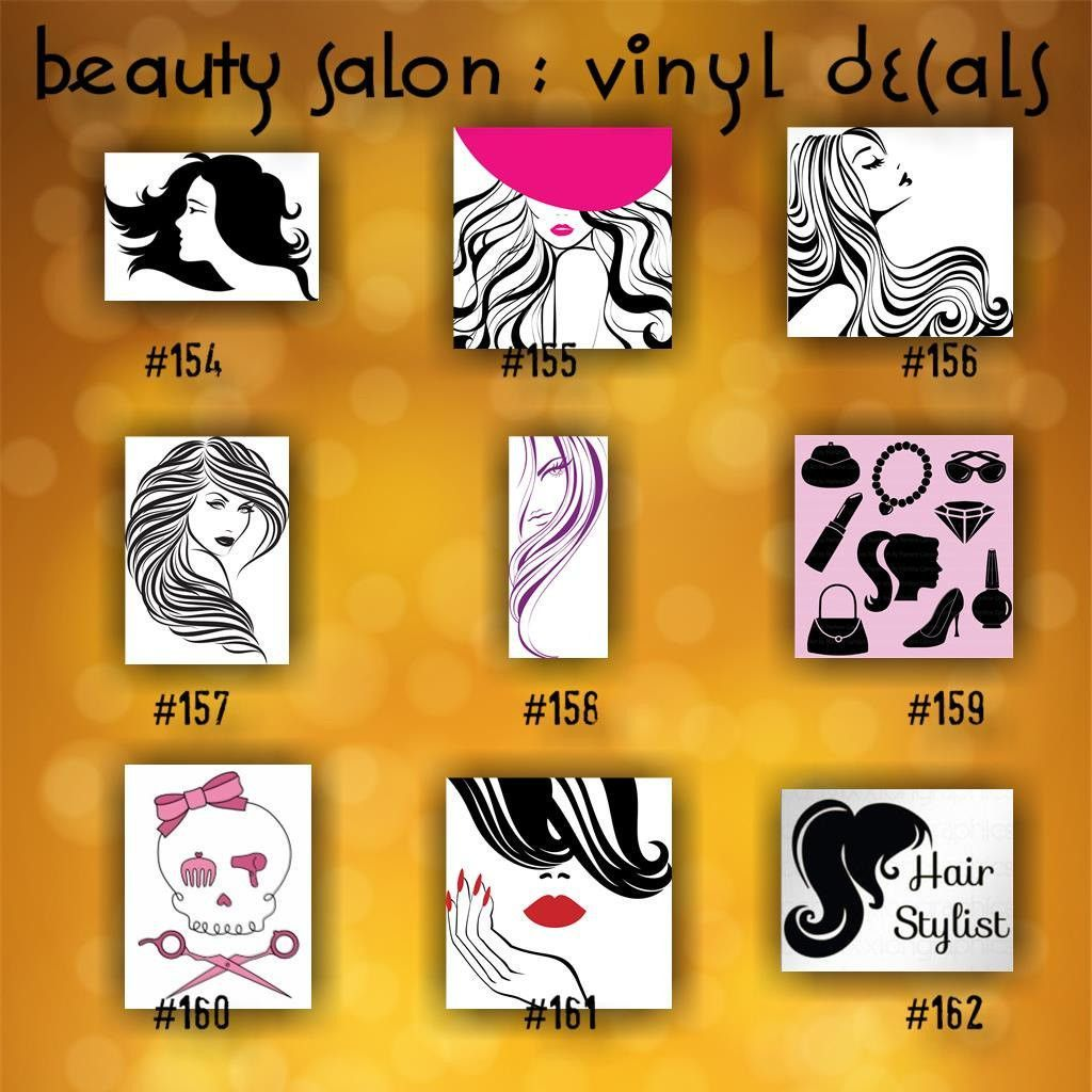 BEAUTY SALON Vinyl Decals Vinyl Stickers Custom Car - Custom vinyl stickerscreate a custom sticker or decal car stickers