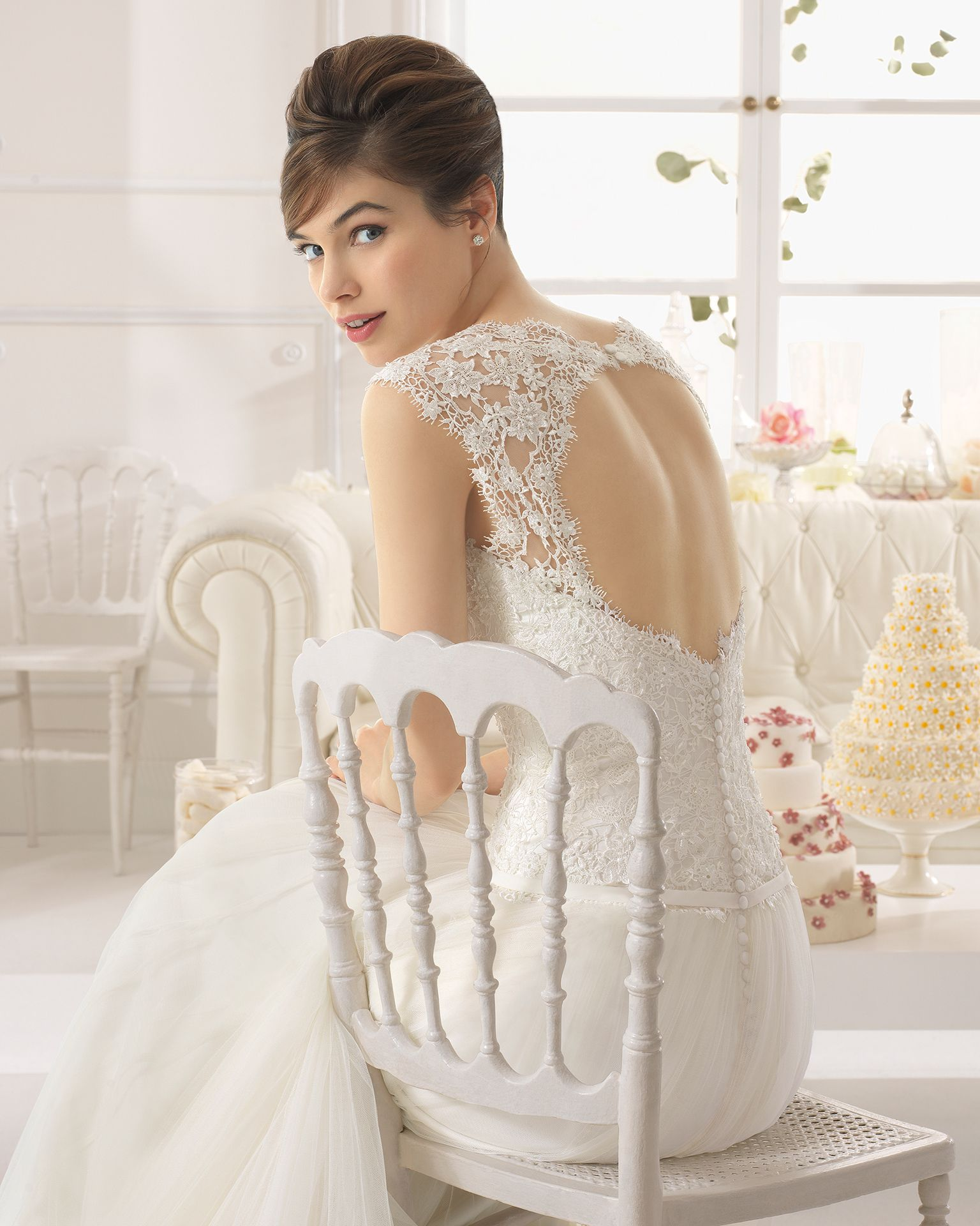 Aire barcelona wedding dresses  Style C ABRA   Collection  Aire Barcelona  Guipure dress