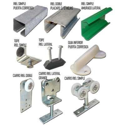 Rieles y carros para puertas corredizas pinterest for Sistema para puertas corredizas