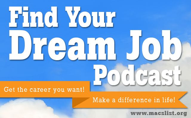 Find Your Dream Job Podcast -- live on #iTunes and #Soundcloud - live careers