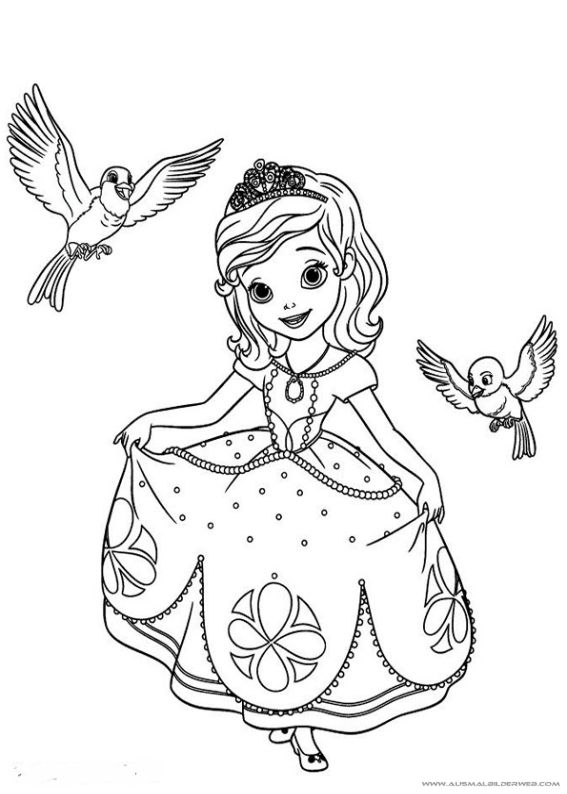 Ausmalbilder Sofia Die Erste 3 Jpg Ausmalbilder Fur Kinder Malvorlage Prinzessin Disney Prinzessin Malvorlagen Vogel Malvorlagen